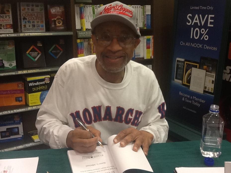 Book signing pose